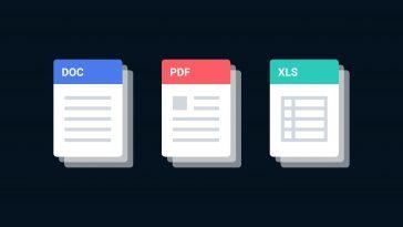 différents types de fichiers PDF