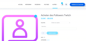 acheter followers chaine twitch