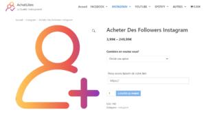 acheter 1000 follower instagram pas cher